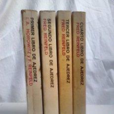 Coleccionismo deportivo: LOTE PRIMER, SEGUNDO, TECER, CUARTO LIBRO DE AJEDREZ - REINFELD, HOROWITZ, BRUGUERA. Lote 135465014