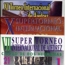 Coleccionismo deportivo: BOLETINES TORNEOS AJEDREZ CHESS VII X XI TORNEO INTERNACIONAL CIUDAD DE DOS HERMANAS - FOTOS ADIC.. Lote 220716977