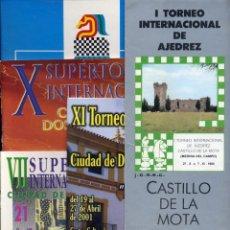 Coleccionismo deportivo: BOLETINES TORNEOS AJEDREZ CHESS X XI DOS HERMANAS, ALICANTE, MEDINA DEL CAMPO, ETC - FOTOS ADIC.. Lote 220718710