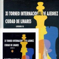 Coleccionismo deportivo: BOLETIN XI TORNEO AJEDREZ LINARES 1993 GRAN FORMATO 12 PAGINAS + DIPTICO. Lote 220723802