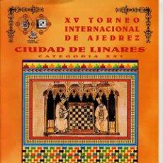 Coleccionismo deportivo: BOLETIN XV TORNEO AJEDREZ LINARES 1998 GRAN FORMATO 8 PAGINAS. Lote 220773845
