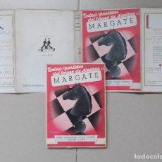 Coleccionismo deportivo: AJEDREZ . DE AGUSTIN TORNEO DE AJEDREZ DE MARGATE (1939) CAPABLANCA KERES NAJDORF .... Lote 221800877