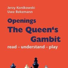 Coleccionismo deportivo: AJEDREZ. CHESS. OPENINGS. THE QUEEN´S GAMBIT - JERZY KONIKOWSKI/UWE BEKEMANN. Lote 221946492