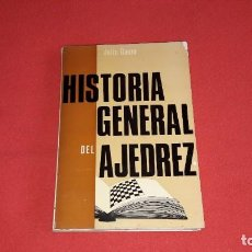 Coleccionismo deportivo: HISTORIA GENERAL DEL AJEDREZ. JULIO GANZO. Lote 222026327