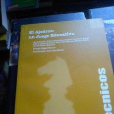 Coleccionismo deportivo: EL AJEDREZ: UN JUEGO EDUCATIVO. Lote 222645935
