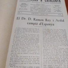 Coleccionismo deportivo: ELS ESCACS A CATALUNYA. REVISTA D'ESCACS (SOLER, PLÁCID. (DIRECTOR TÉCNICO). Lote 224754067