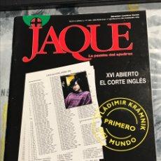 Coleccionismo deportivo: REVISTA DE AJEDREZ JAQUE NÚMERO 418 FEBRERO 1996 COMENTA KRAMNIK. Lote 225212595