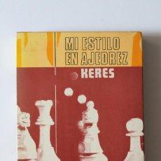 Coleccionismo deportivo: PAUL KERES - MI ESTILO EN AJEDREZ - RICARDO AGUILERA. Lote 226612935