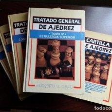 Coleccionismo deportivo: TRATADO GENERAL DE AJEDREZ. ROBERTO G. GRAU. 4 TOMOS Y CARTILLA.. Lote 227157595