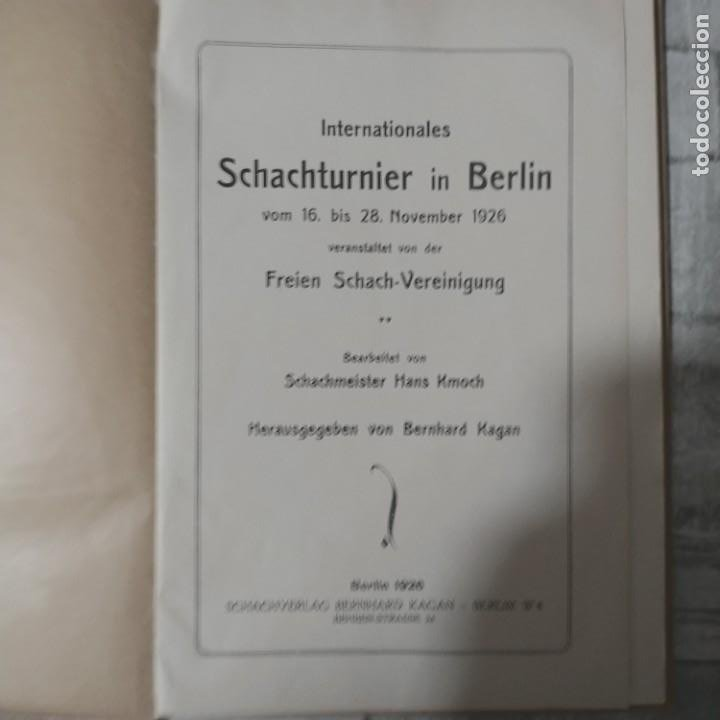 Coleccionismo deportivo: AJEDREZ RARO Internationales Schachturnier in Berlin vom 16. bis 28 November 1926 TORNEO BERLIN 1926 - Foto 3 - 230354690