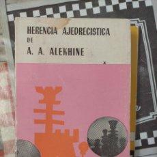 Collectionnisme sportif: HERENCIA DE ALEKHINE AJEDREZ TOMO I AJEDREZ. Lote 232005980