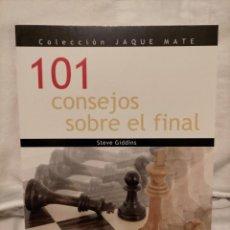 Collectionnisme sportif: 101 CONSEJOS SOBRE EL FINAL AJEDREZ. Lote 232067335