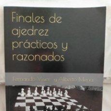 Coleccionismo deportivo: FINALES DE AJEDREZ PRÁCTICOS Y RAZONADOS. VISIER Y MENA. Lote 233002450