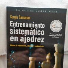 Collectionnisme sportif: ENTRENAMIENTO SISTEMÁTICO EN AJEDREZ. Lote 233002955