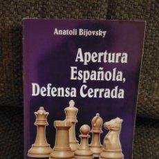 Coleccionismo deportivo: AJEDREZ APERTURA ESPAÑOLA, DEFENSA CERRADA. Lote 233471645