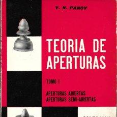 Coleccionismo deportivo: TEORÍA DE APERTURAS -TOMO I Y II-, V.N. PANOV. Lote 233837665