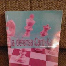 Coleccionismo deportivo: GALLAGHER: APRENDA APERTURAS. LA DEFENSA CARO-KANN, (LA CASA DEL EJEDREZ. Lote 235685595