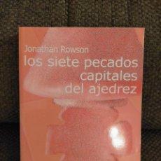 Coleccionismo deportivo: LOS SIETE PECADOS CAPITALES DEL AJEDREZ. Lote 236078010