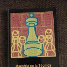 Coleccionismo deportivo: MAESTRIA EN LA TECNICA CHESSY AJEDREZ. Lote 236079205