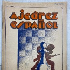 Coleccionismo deportivo: AJEDREZ ESPAÑOL. AÑO V. MADRID. AGOSTO 1946. Nº 56.. Lote 239471885