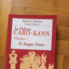 Coleccionismo deportivo: LA DEFENSA CARO-KANN VOLUMEN 2. ANATOLI KARPOV. Lote 241178725