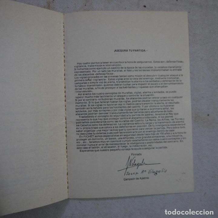 Coleccionismo deportivo: CARTILLA DE AJEDREZ - ROMAN TORAN - 1978 - Foto 6 - 245362905