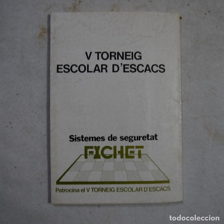 Coleccionismo deportivo: CARTILLA DE AJEDREZ - ROMAN TORAN - 1978 - Foto 7 - 245362905