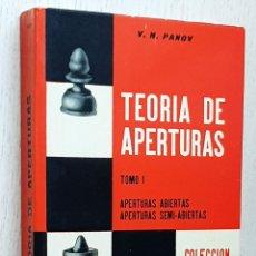 Coleccionismo deportivo: TEORÍA DE APERTURAS. TOMO I - PANOV, V. N.. Lote 245418340
