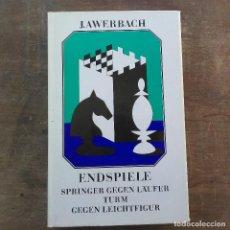 Coleccionismo deportivo: JURI AWERBACH - ENDSPIELE SPRINGER GEGEN LÄUFER, TURM GEGEN LEICHTFIGUR (ALEMÁN) TAPA DURA – 1989. Lote 247490920