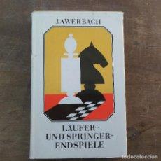 Coleccionismo deportivo: JURI AWERBACH - LÄUFER- UND SPRINGERENDSPIEL (ALEMÁN) TAPA DURA – 1988. Lote 247491700