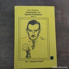 Coleccionismo deportivo: ERICH SIEBENHAAR - ENZYKLOPADIE DER ALJECHIN-VERTEIDIGUNG BAND A TAPA DURA 1995. Lote 247496880