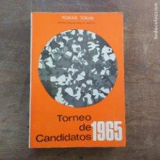 Coleccionismo deportivo: ROMÁN TORAN - TORNEO DE CANDIDATOS 1965 - FIRMADO POR MAURICIO PEREA. Lote 247498000