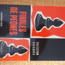 Coleccionismo deportivo: LIBRO AJEDREZ: FINALES DE PEONES (MAIZELIS). Lote 247569860
