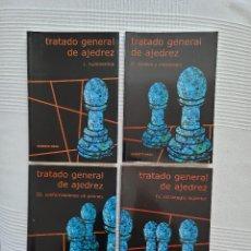 Collectionnisme sportif: TRATADO GENERAL DE AJEDREZ, ROBERTO GRAU, 4 TOMOS (COMPLETA). Lote 249544140