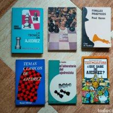 Coleccionismo deportivo: LOTE 6 LIBROS AJEDREZ - KERES ASSIAC DIERON GOLMAYO ABRAHAMS - BUEN ESTADO GENERAL DIFICIL. Lote 253171680