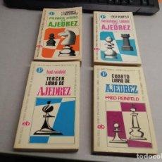 Colecionismo desportivo: PRIMER, SEGUNDO, TERCER Y CUARTO LIBRO DE AJEDREZ / FRED REINFELD / BRUGUERA LIBRO PRÁCTICO. Lote 257630310