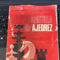Coleccionismo deportivo: CARTILLA DE AJEDREZ. Lote 258296030