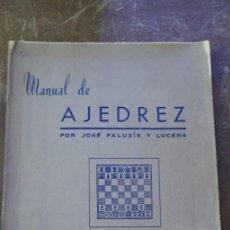 Coleccionismo deportivo: MANUAL DE AJEDREZ, JOSÉ PALUZIE, PYMY 105. Lote 259929185