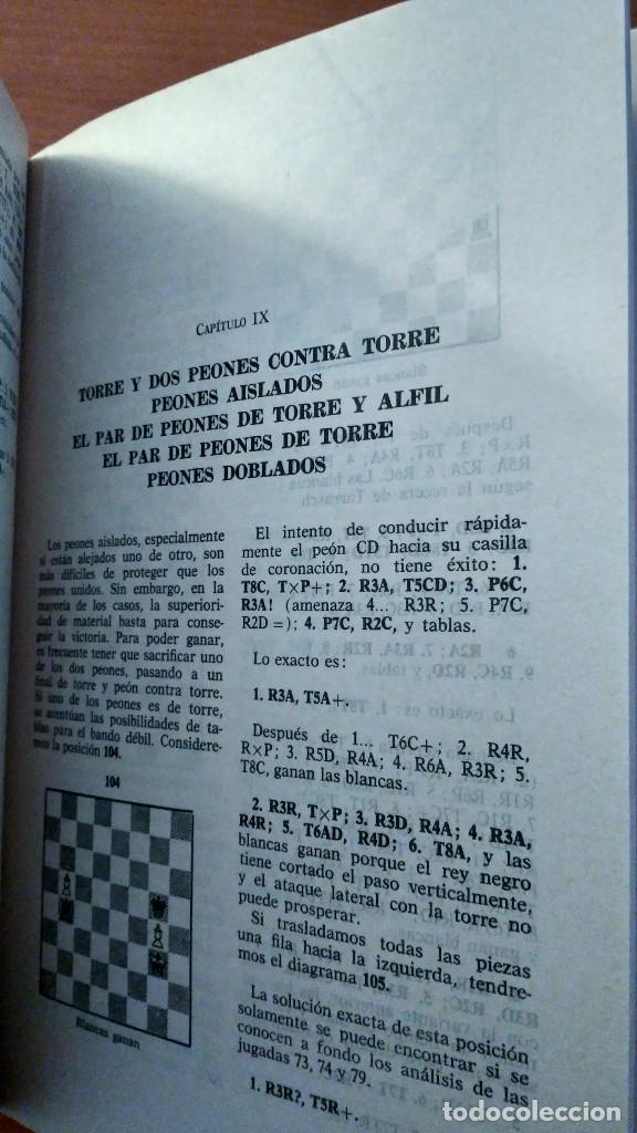 Coleccionismo deportivo: Finales de torre. Lowenfisch y Smyslow. Martínez Roca- Escaques. 1978. - Foto 3 - 261932525