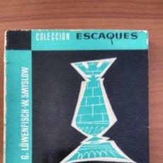 Coleccionismo deportivo: FINALES DE TORRE. LOWENFISCH Y SMYSLOW. MARTÍNEZ ROCA- ESCAQUES. 1978.. Lote 261932525