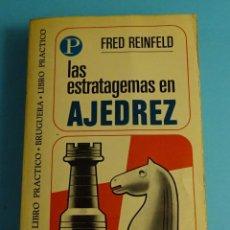 Coleccionismo deportivo: LAS ESTRATAGEMAS EN AJEDREZ. FRED REINFELD. EDITORIAL BRUGUERA Nº 66. Lote 261938665