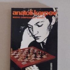 Collectionnisme sportif: AJEDREZ ANATOLI KARPOV. NUEVO CAMPEÓN DEL MUNDO , ANGEL MARTIN. ESCAQUES. Lote 266517248