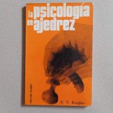 Collectionnisme sportif: AJEDREZ LA PSICOLOGÍA EN AJEDREZ - KROGIUS. ESCAQUES. Lote 266518048