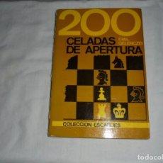 Coleccionismo deportivo: 200 CELADAS DE APERTURA.EMIL GELENCZEI.COLECCION ESCAQUES.MARTINEZ ROCA 1986. Lote 270145583