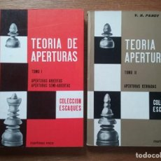 Colecionismo desportivo: TEORIA DE APERTURAS, V N PANOV, APERTURAS ABIERTAS CERRADAS, COLECCION ESCAQUES, MARTINEZ ROCA. Lote 270407353