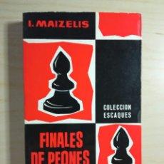 Coleccionismo deportivo: FINALES DE PEONES - I. MAIZELIS - MARTÍNEZ ROCA - 1975. Lote 273447958