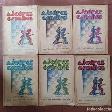 Coleccionismo deportivo: AJEDREZ REVISTA AJEDREZ ESPAÑOL 1953 AÑO COMPLETO 133-144. Lote 276158693