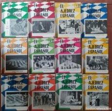 Coleccionismo deportivo: AJEDREZ REVISTA AJEDREZ ESPAÑOL 1961 AÑO COMPLETO 56-67 (TORÁN). Lote 276158853