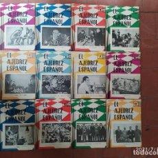 Coleccionismo deportivo: AJEDREZ REVISTA AJEDREZ ESPAÑOL 1962 AÑO COMPLETO 68-79 (TORÁN). Lote 276159438