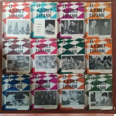 Coleccionismo deportivo: AJEDREZ REVISTA AJEDREZ ESPAÑOL 1963-64-65 3 AÑOS COMPLETOS 80-105 (TORÁN). Lote 276161138
